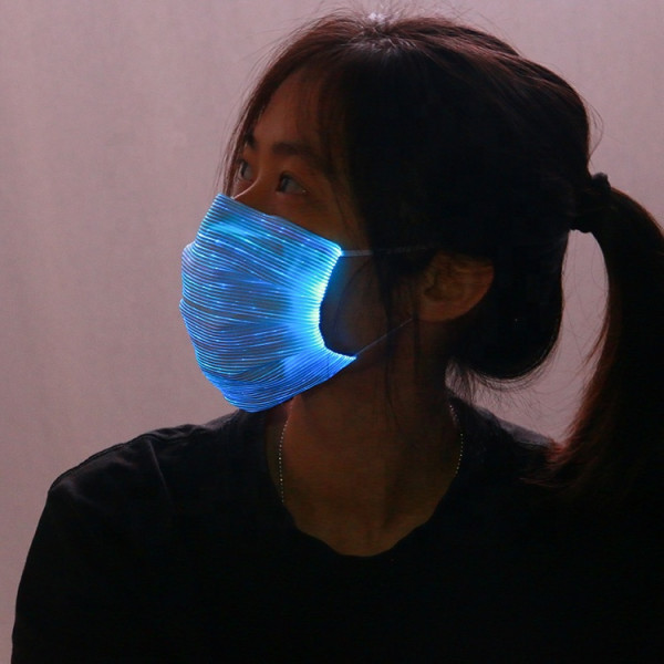 LED optic fiber face mask (White)